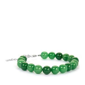 Burmese Jade Bracelet in Sterling Silver 136.70cts