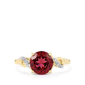 Umbalite Ring with Diamond in 9K Gold 2.19cts