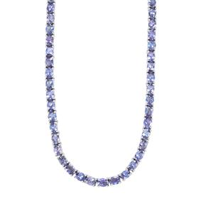 Tanzanite Necklace in Sterling Silver 27.96cts