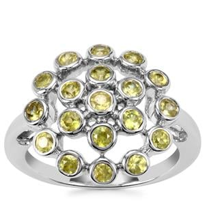 Ambilobe Sphene Ring in Sterling Silver 1.35cts