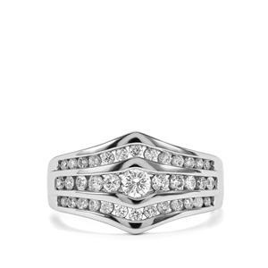 Diamond Ring in 18K White Gold 0.76ct