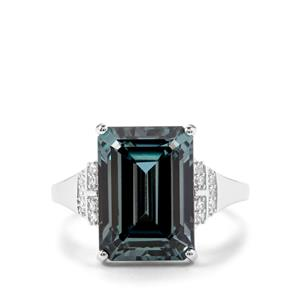 Versailles Topaz Ring with White Topaz in Sterling Silver 9.46cts