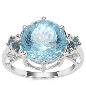 Sky Blue Topaz Ring with Marambaia London Blue Topaz in Sterling Silver 9.66cts