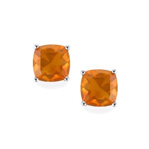 AA Honey American Fire Opal Earrings in Sterling Silver 2.07cts