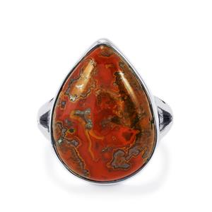 13ct Sonoreña Seam Agate Sterling Silver Aryonna Ring