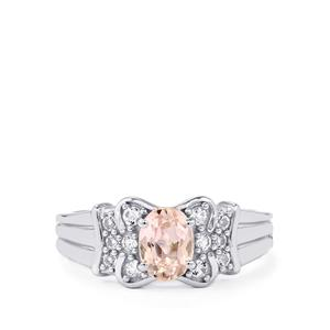 Mawi Kunzite Ring with White Topaz in Sterling Silver 1.32cts