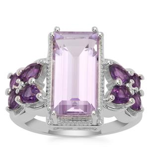 Rose De France Amethyst Ring with Amethyst in Sterling Silver 6.74cts