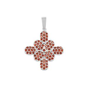 Anthill Garnet Pendant in Sterling Silver 1.41cts