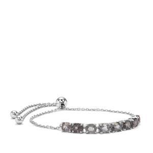 Mogok Silver Spinel Slider Bracelet in Sterling Silver 4.82cts