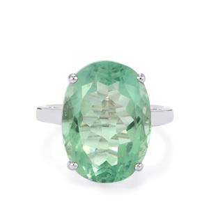 Natural Tucson Green Fluorite Ring  in Sterling Silver 14.34cts