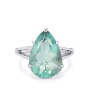 Natural Tucson Green Fluorite Ring in Sterling Silver 11.84cts