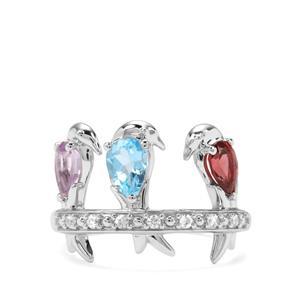 1.54ct Kaleidoscope Gemstones Sterling Silver Ring