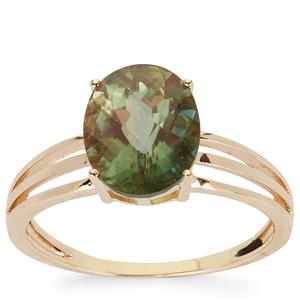 Green Andesine Ring in 9K Gold 2.24cts