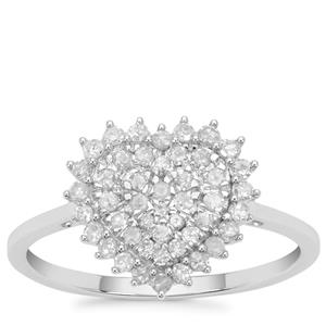 Diamond Ring in 9K White Gold 0.51ct