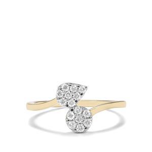 1/4ct Argyle Diamond 9K Gold Tomas Rae Ring