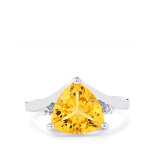 Diamantina Citrine Ring with White Topaz in Sterling Silver 4.52cts