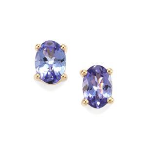 AA Tanzanite Earrings in 9K Gold 1.19cts