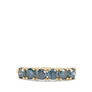 1.19ct Blue Diamond 9K Gold Ring