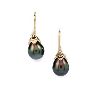 Maruata Cultured Pearl 10K Gold Earrings (11MM x 9.50MM)