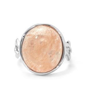 12.48cts Sarah Bennett Morganite Sterling Silver Ring