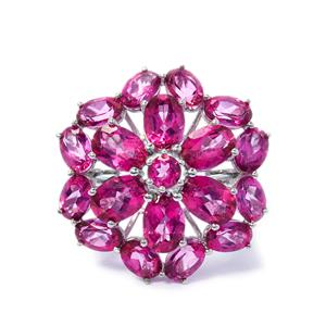 Mystic Pink Topaz Ring in Sterling Silver 12.15cts