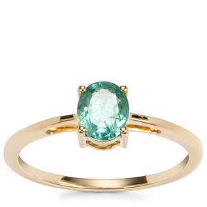 Zambian Emerald Ring in 9K Gold 0.62ct