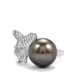 Maruata Cultured Pearl Ring in Sterling Silver (11mm)