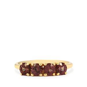 Bekily Color Change Garnet Ring  in 10k Gold 1.27cts