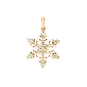 Yellow Diamond Pendant in 18K Gold 0.77ct