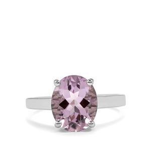 3.03ct Rose De France Amethyst Sterling Silver Ring