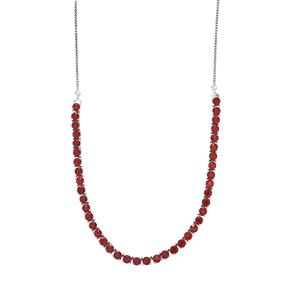 Malagasy Ruby Necklace in Sterling Silver 16.40cts (F)