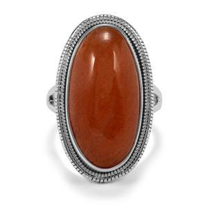 17ct Peach Moonstone Sterling Silver Aryonna Ring