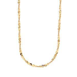 """18"""" Midas Dettaglio Twisted Serpentina Chain 2g"""