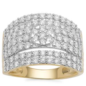 Argyle Diamond Ring in 9K Gold 1.50cts