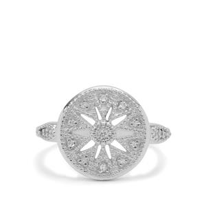 Diamond Ring in Sterling Silver 0.09ct