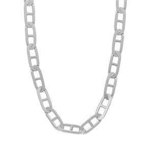 "30"" Sterling Silver Tempo Diamond Cut Mariner Chain 4.30g"