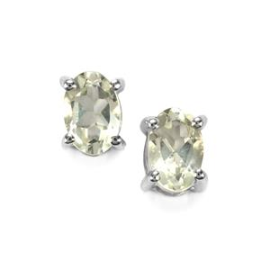 Chartreuse Sanidine Earrings in Sterling Silver 0.82ct