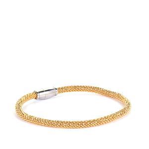 'The Maglia' Two Tone Sterling Silver Altro Bracelet 8.65g 7.5