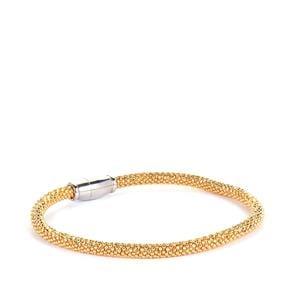 "7.5"" Two Tone Sterling Silver Altro Bracelet 8.65g"