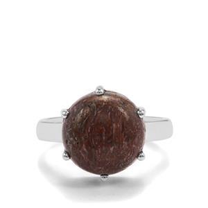 7.39ct Dinosaur Bone Sterling Silver Aryonna Ring