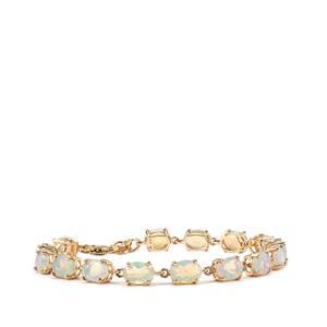 Ethiopian Opal Bracelet in 9K Gold 8.27cts
