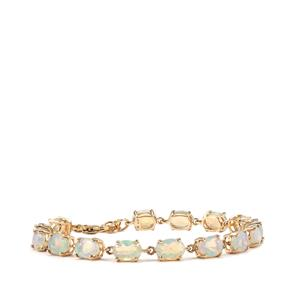 8.27ct Ethiopian Opal 9K Gold Tomas Rae Bracelet