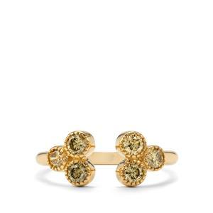 1/2ct Natural Coloured Diamond 18K Gold Tomas Rae Ring