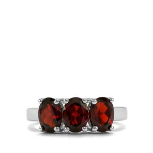 2.70ct Mozambique Garnet Sterling Silver Ring