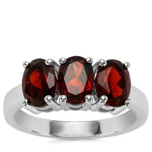 Mozambique Garnet Ring in Sterling Silver 2.70cts