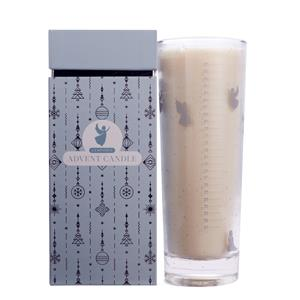 2019 Silver Advent Candle with Christmas Velvet Fragrance and Clear Quartz Carved Angel ATGW 8ctss