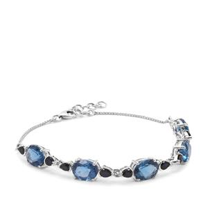 Colour Change Fluorite & Thai Sapphire Sterling Silver Bracelet ATGW 12.91cts