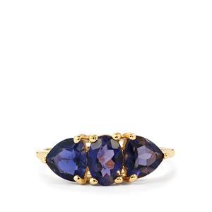 1.83ct Bengal Iolite 9K Gold Ring
