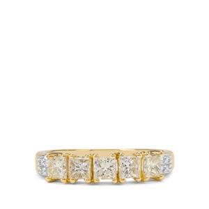 1ct Yellow & White Diamond 18K Gold Tomas Rae Ring