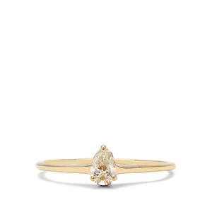 1/5ct Yellow & White Diamond 18K Gold Tomas Rae Ring